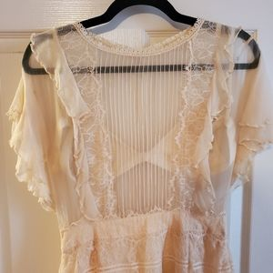 Cleobella Cream Lace Blyton Dress, S.